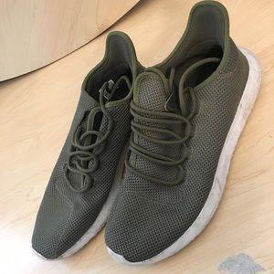 Adidas Tubular Shadow Olive Green Size 11 Half
